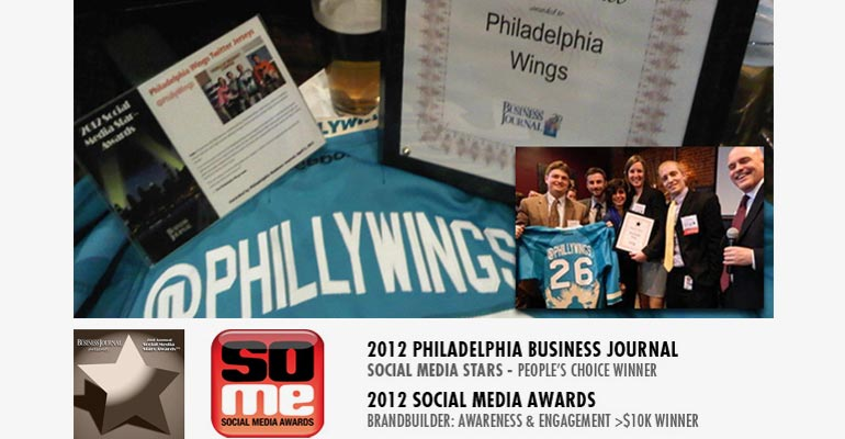 CSD is the Designer of the Philadelphia Wings Twitter Handle Jersey