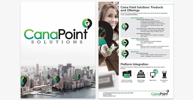 print design of canapoint solutions pitchbook for new business presentation