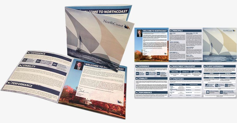 North Coast Asset Management New Business Welcome Tri-Fold Brochure