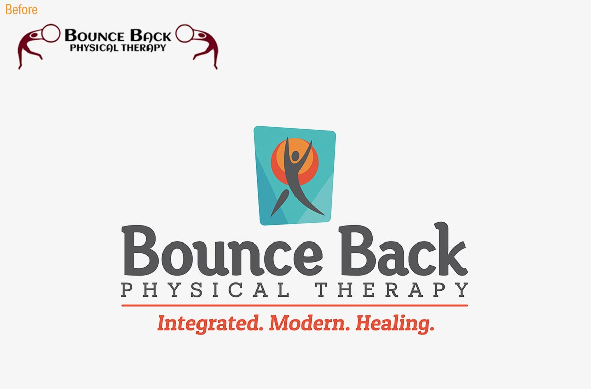 Bounce Back Physical Theraphy Logo Design Brand