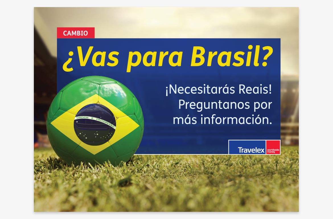 Travelex Counter Brazil World Cup Sales took