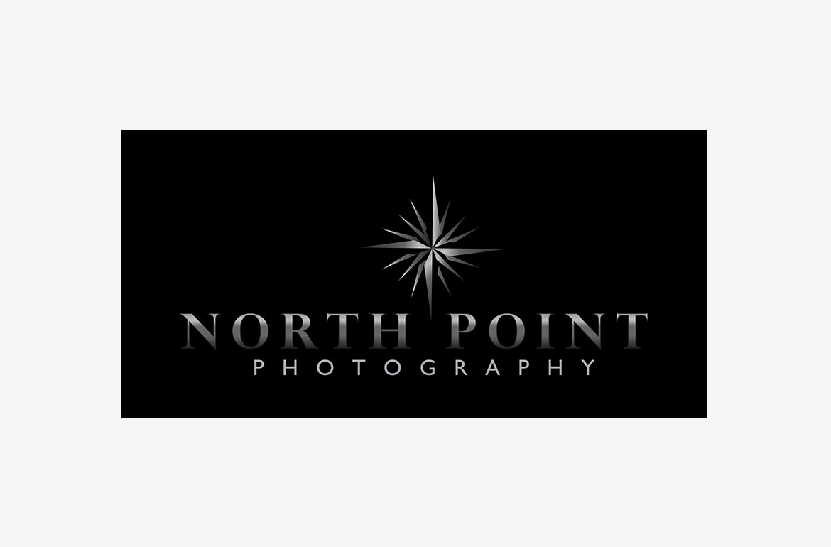 North Point Photography Logo Design Brand Wedding Photography Branding