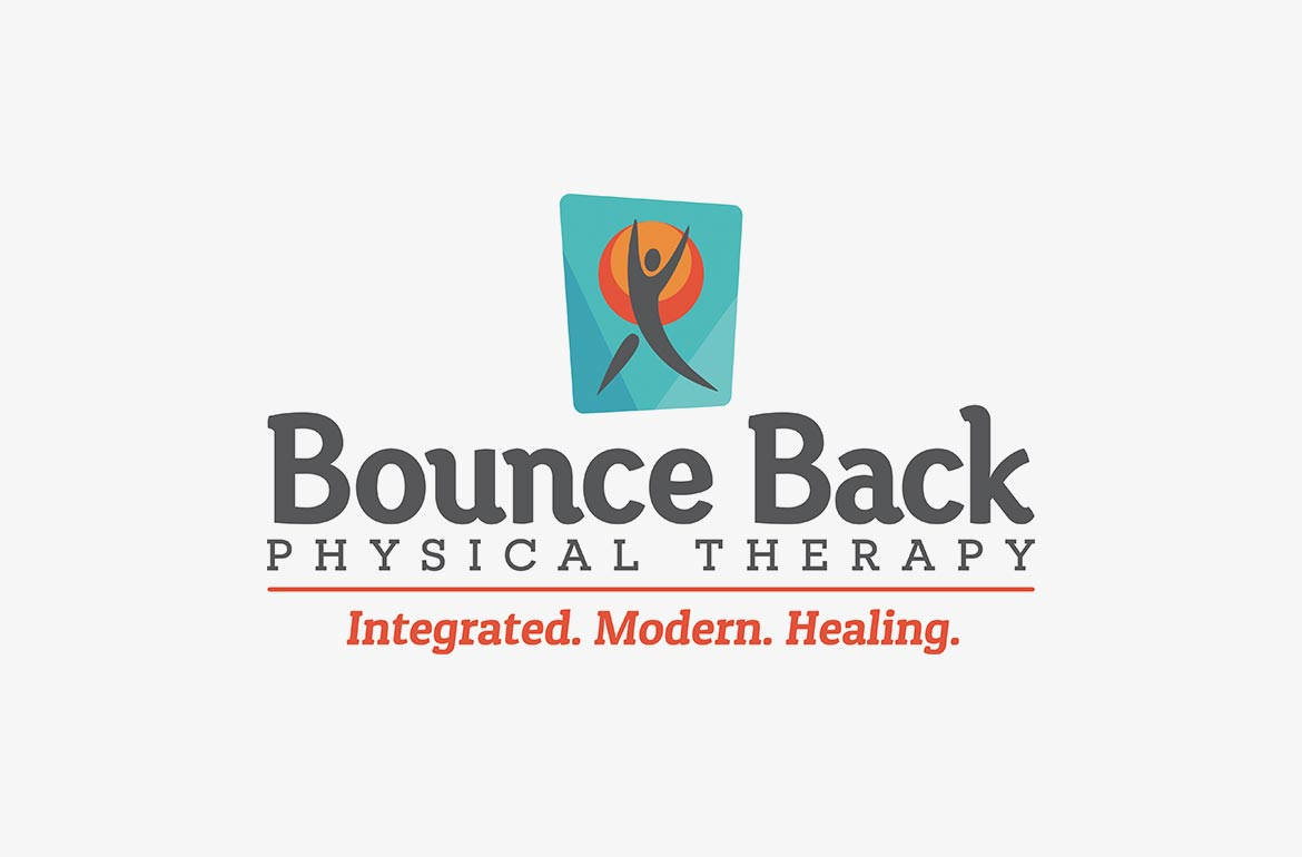 bounce back physical therapy new logo design brand branding
