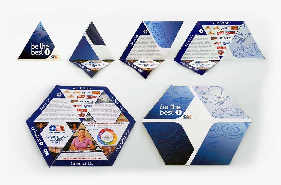 Bimbo Bakeries USA Recruitment Hexagon Shaped Brochure